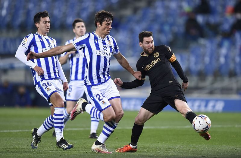 Lionel Messi in La Liga action for Barcelona