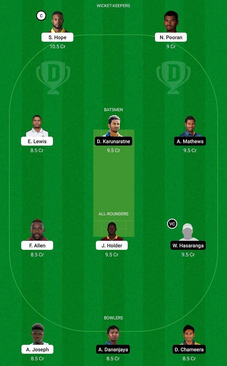 WI vs SL 1st ODI Dream11 Tips