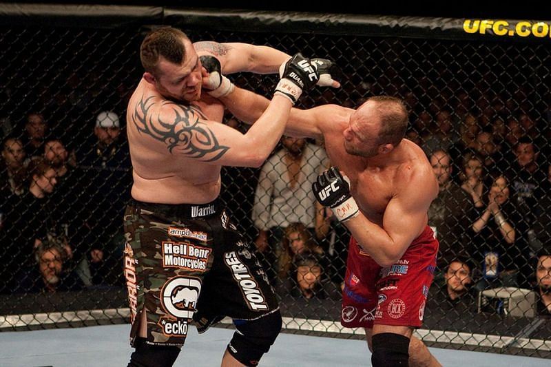 Randy Couture stunned everyone by returning from retirement to beat Tim Sylvia for the UFC Heavyweight title.