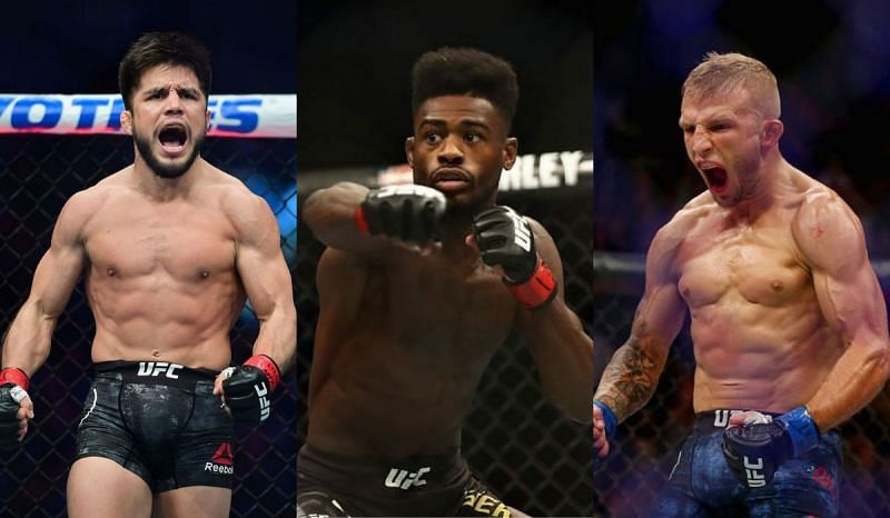 Henry Cejudo, Aljamain Sterling, and TJ Dillashaw
