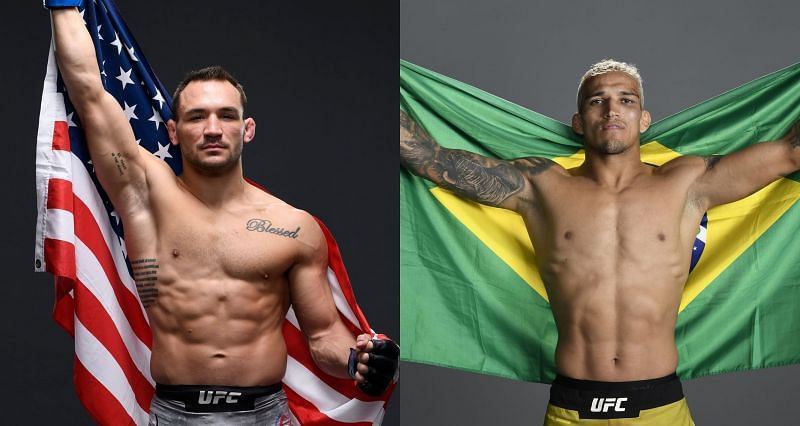 Michael Chandler (Left) believes that he has a clear path to victory against Charles Oliveira (Right)
