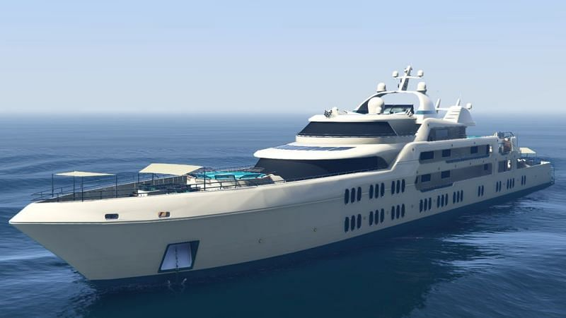 Luxury yachts could see players take quite the hit in the bank accounts (Image via GTA Wiki)