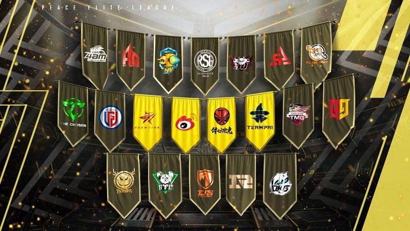 PEL 2021 Season 1 teams