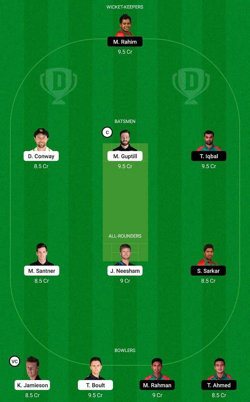 NZ vs BAN 2nd ODI Dream11 Tips