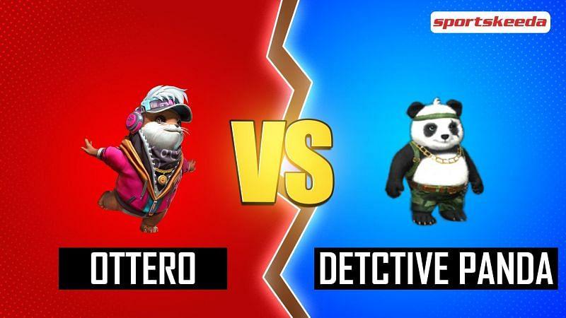 Ottero and Detective Panda in Free Fire (Image via Sportskeeda)
