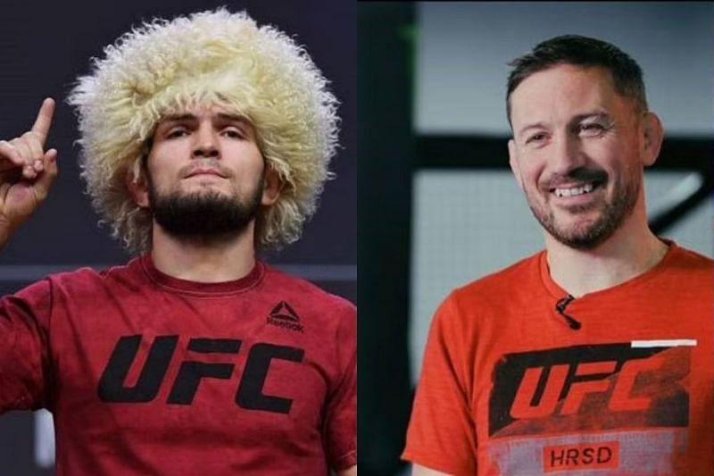 Khabib Nurmagomedov (left( and John Kavanagh (right)