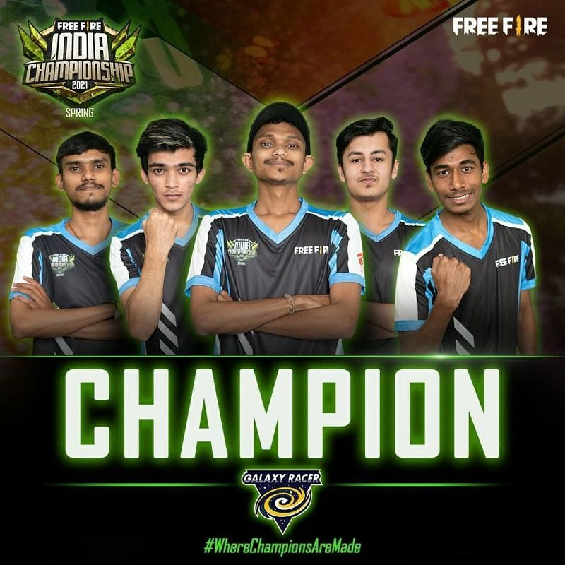 Galaxy Racer wins Free Fire India Championship 2021 Spring edition