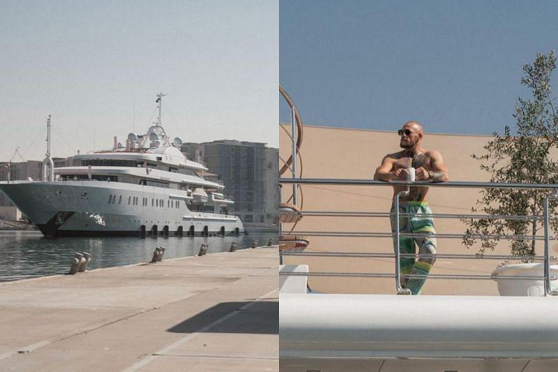 Conor McGregor in his 300-foot Lamborghini superyacht
