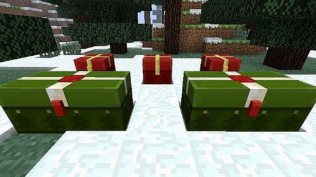 Christmas chests only seen from December 24th to 26th (Image via planetminecraft)