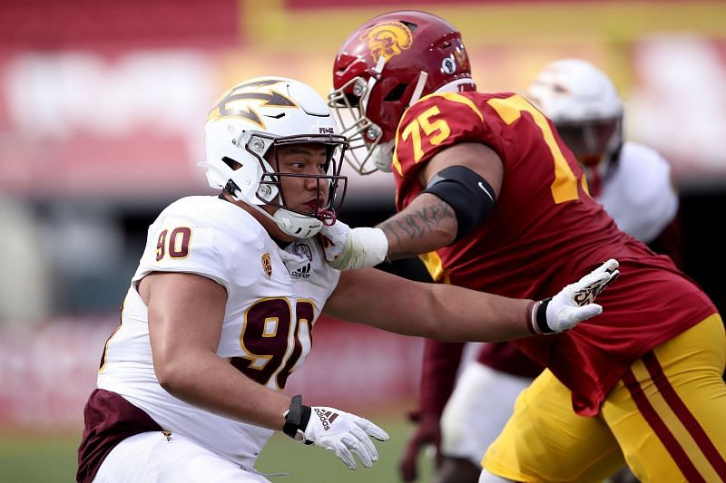 USC Offensive Lineman Alijah Vera-Tucker Is An Intriguing Prospect Who Can Play Guard or Tackle.