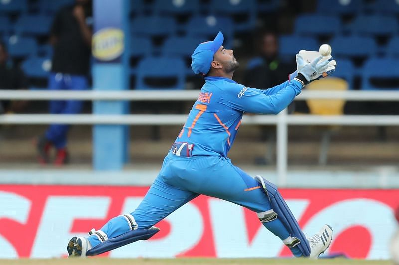 Rishabh Pant in ODI action for Team India