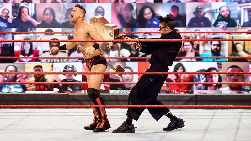 Bad Bunny attacked The Miz after his match on RAW