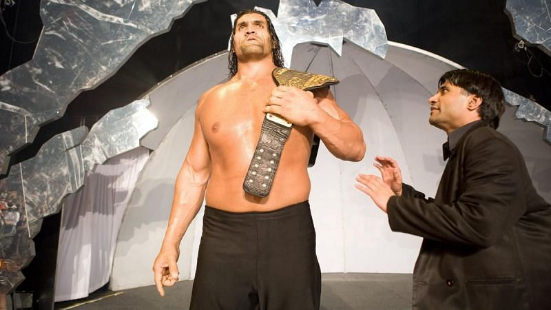 The Great Khali (w/Ranjin Singh) held the WWE World Heavyweight Championship