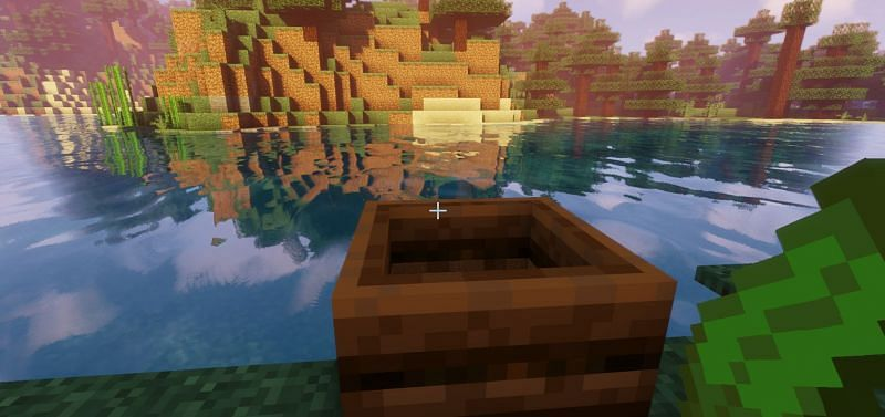 Shown: Kelp about to be composted in the composter (Image via Minecraft)