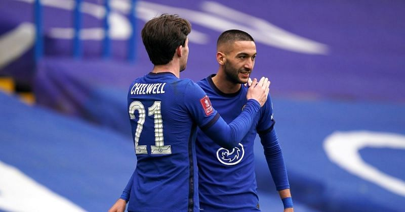 Hakim Ziyech celebrates his goal against Sheffield United.