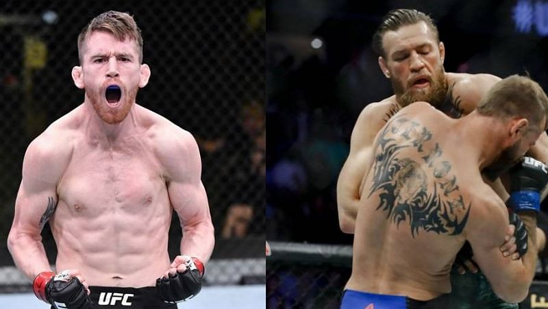 Cory Sandhagen (left); Conor McGregor (right)