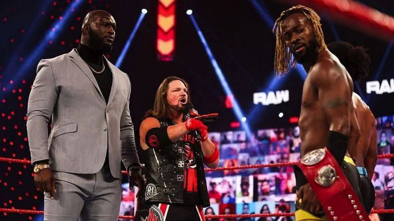 AJ Styles & Omos will challenge The New Day for the RAW Tag Team Championships at WrestleMania 37