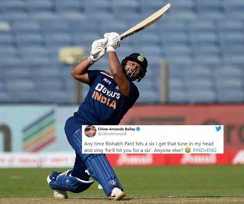 Rishabh Pant registered his highest ODI score against England.