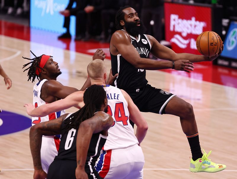 James Harden (#13) of the Brooklyn Nets