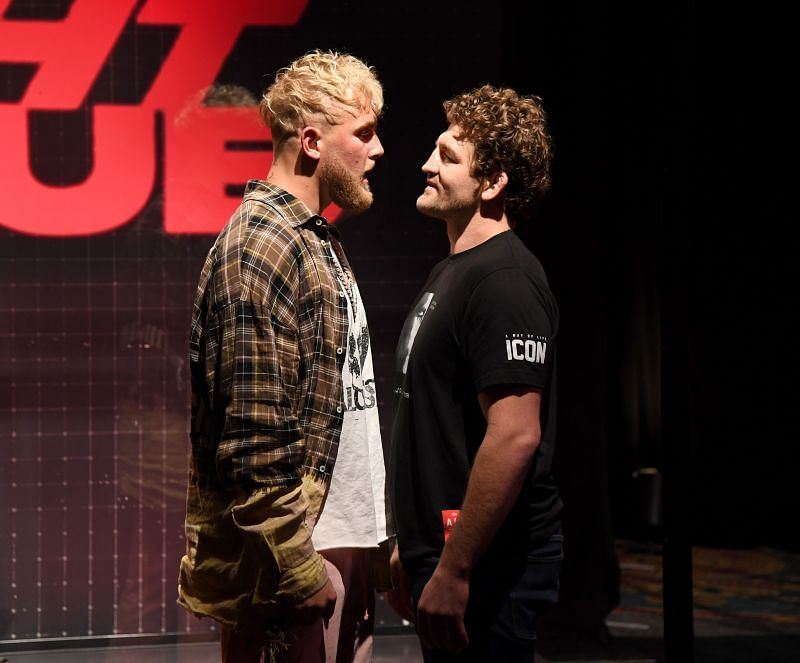 Jake Paul and Ben Askren at the pre-fight press conference
