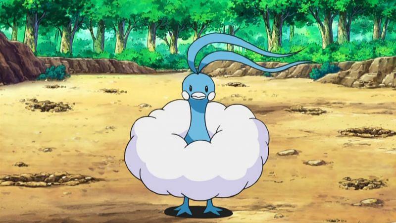Altaria in the anime (Image via The Pokemon Company)