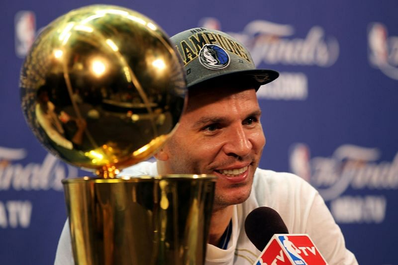 Kidd after the Dallas Mavericks won the 2011 NBA Finals.