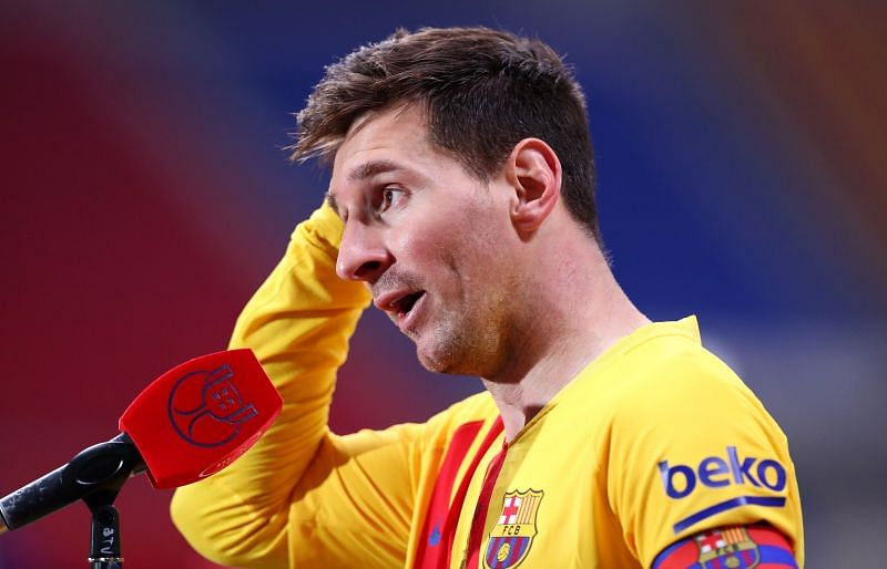 Lionel Messi is yet to sign a contract extension at Barcelona.
