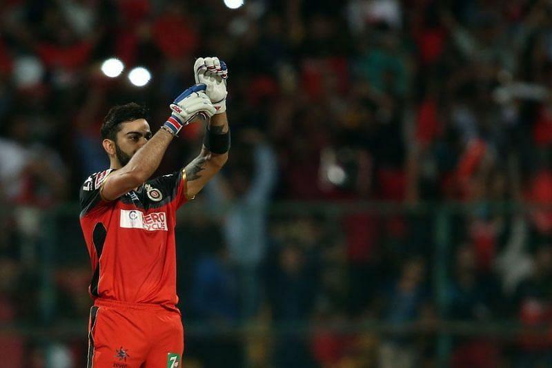 Virat Kohli got nine stitches in his hand but still smashed a century against KXIP. (Photo: BCCI)