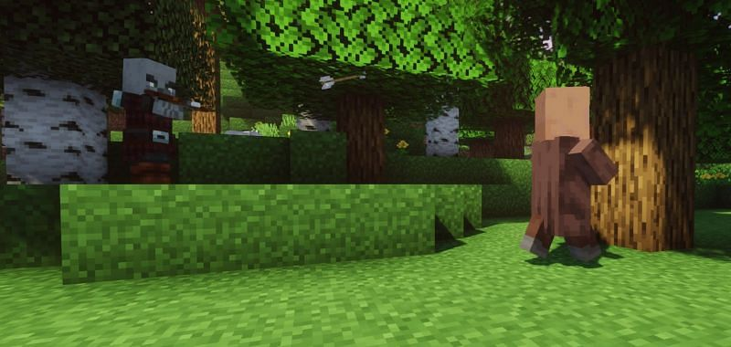 Pillager Patrols will attack players, Villagers, Iron Golems, and Wandering Traders (Image via Minecraft)