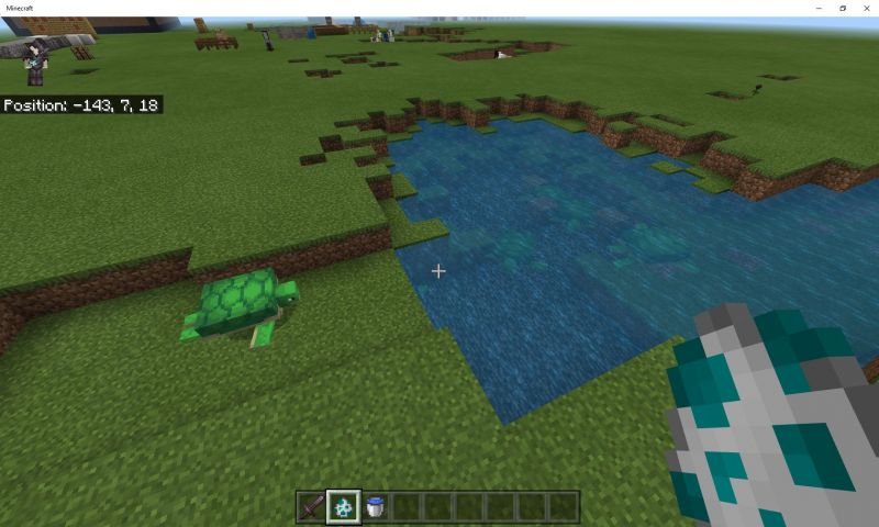 Turtles can be found on sandy beaches in Minecraft (Image via Mojang)