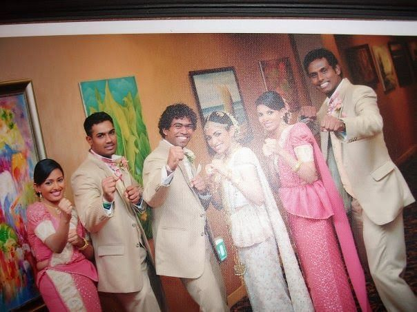 Lasith Malinga's Marriage Ceremony Pic with Tanya Perera and Friends