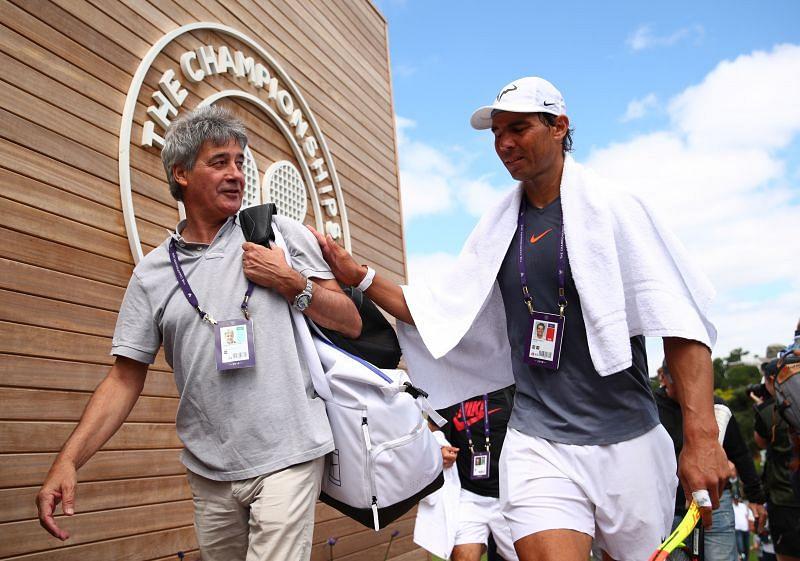 Dr. Angel Ruiz Cotorro with Rafael Nadal