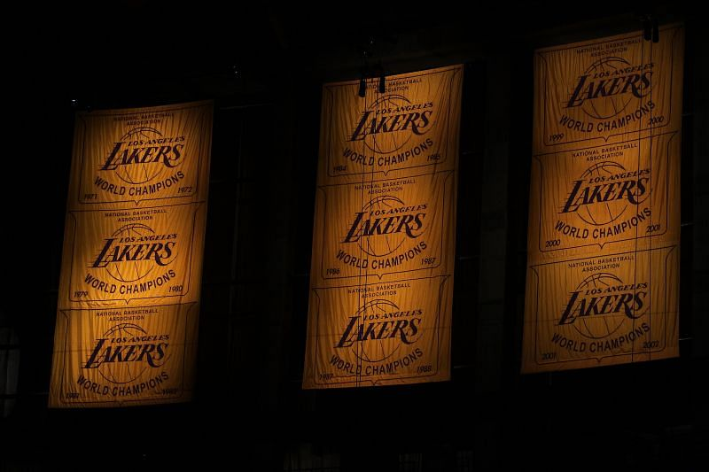 General view of the LA Lakers