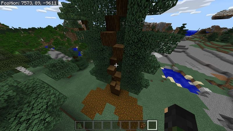 Every other tree is relatively simple and with the 2x2 trees you can easily procure every wooden block by carving a staircase upwards and mining your way back down.