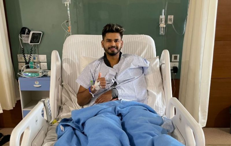 Delhi Capitals captain Shreyas Iyer after surgery