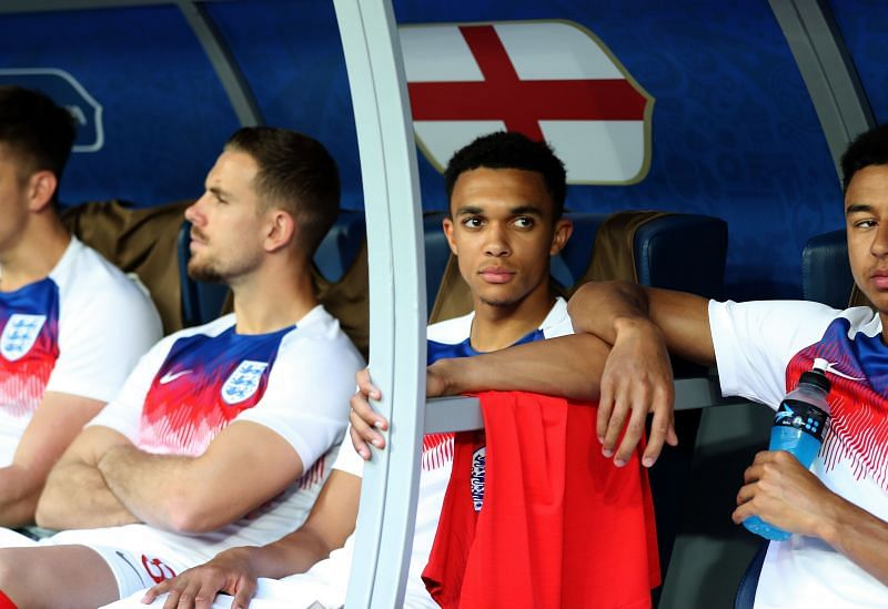 Trent Alexander-Arnold representing England.