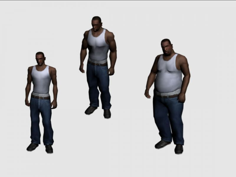 GTA San Andreas took customization to the next level (Image via polycount.com)