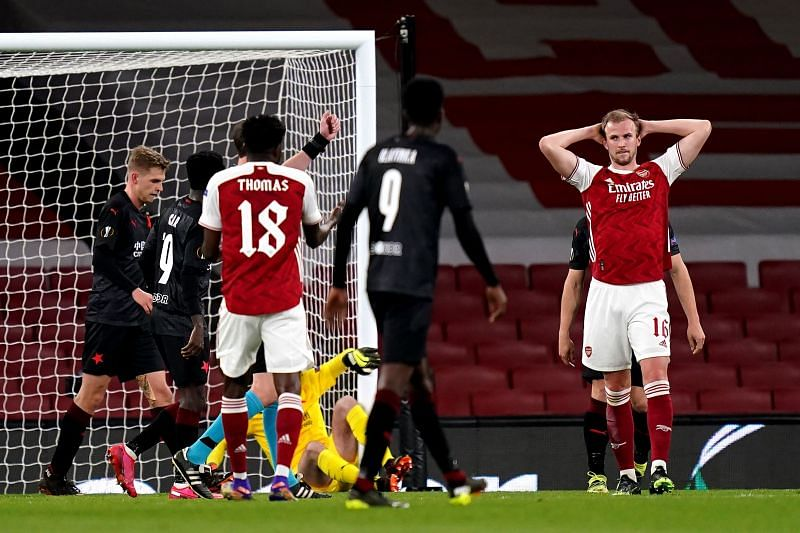 Arsenal were held to a 1-1 draw by Slavia Prague at the Emirates