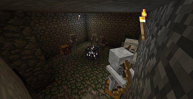 Skeleton spawner Minecraft (Image via planetminecraft)