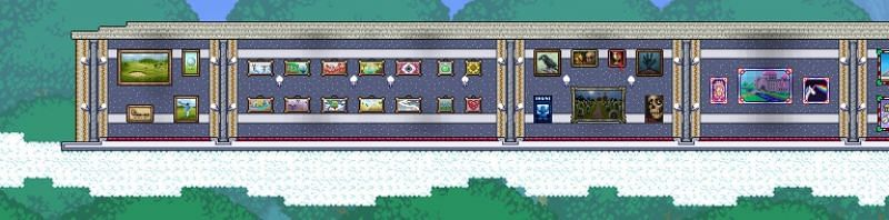 Depending on the biome he's in he will sell different paintings.