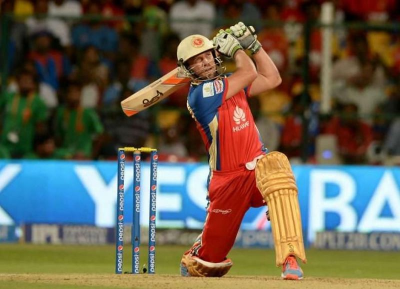 AB de Villiers in action for RCB