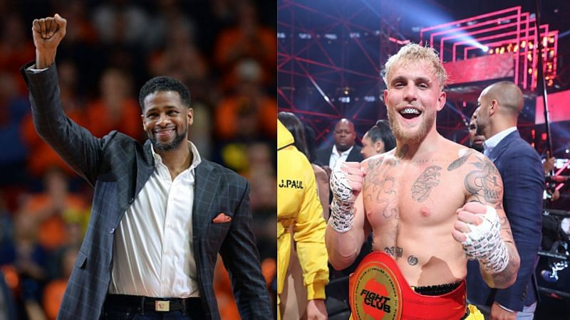 Kendall Gill (left) has called out Jake Paul (right)