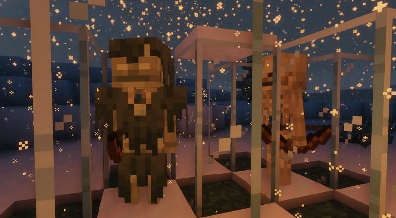 Shown: A Stray and Skeleton test site (Image via Minecraft)