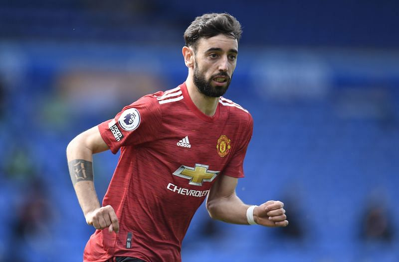 Manchester United midfielder Bruno Fernandes (Photo by Peter Powell - Pool/Getty Images)