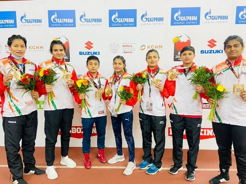Indian women won all seven medals on offer at the Youth World Boxing Championships. (Image Source: BFI)