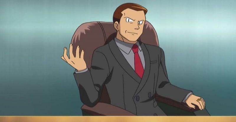 Team GO Rocket Boss, Giovanni, in the anime (Image via The Pokemon Company)