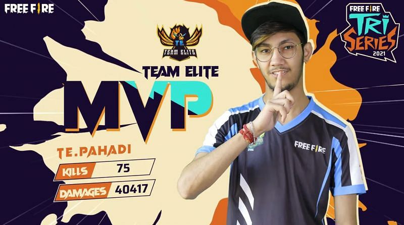 Pahadi was the MVP of Free Fire Tri-Series 2021
