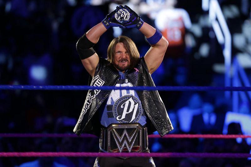 AJ Styles as WWE Champion on SmackDown