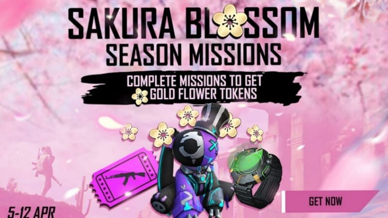 The Sakura Blossom event in Free Fire started today (Image via Garena Free Fire)