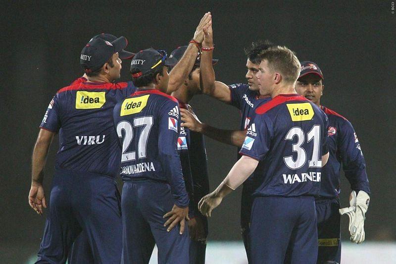 Delhi players celebrate a wicket (Source:Sportzpics for BCCI/IPLT20)